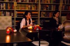 Ο εορτασμός της επετείου της λέσχης 12 βιβλίων καφέδων Στοκ Φωτογραφίες