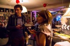 Ο εορτασμός της επετείου της λέσχης 12 βιβλίων καφέδων Στοκ φωτογραφίες με δικαίωμα ελεύθερης χρήσης