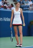 Ο επαγγελματικός τενίστας Karolina Pliskova της Δημοκρατίας της Τσεχίας στη δράση κατά τη διάρκεια της γύρω από την αντιστοιχία τ Στοκ Εικόνες