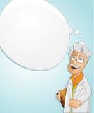 Ο επιστήμονας έχει μια ιδέα Στοκ εικόνα με δικαίωμα ελεύθερης χρήσης