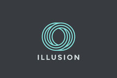 Ο επιστολών λογότυπων άπειρο μορφής γραμμικό ύφος προτύπων σχεδίου διανυσματικό Στοκ Φωτογραφίες