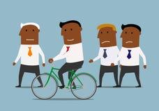 Ο επιχειρηματίας έχει ένα πλεονέκτημα πέρα από τους ανταγωνιστές του απεικόνιση αποθεμάτων