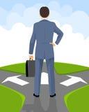 Ο επιχειρηματίας λαμβάνει μια απόφαση Διανυσματική απεικόνιση