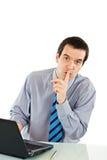 ο επιχειρηματίας εμφανίζ&e στοκ εικόνα με δικαίωμα ελεύθερης χρήσης