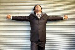ο επιχειρηματίας Ινδός τόν& Στοκ Εικόνα