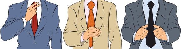 Ο επιχειρηματίας ισιώνει το σακάκι Απεικόνιση αποθεμάτων