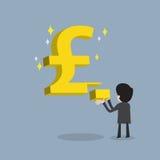 Ο επιχειρηματίας κάνει την ισχυρή επιχείρηση ή παίρνει τα WI απόδοσης της επένδυσης διανυσματική απεικόνιση