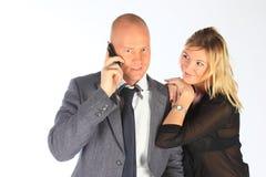 Ο επιχειρηματίας με τη σύζυγο στοκ φωτογραφία με δικαίωμα ελεύθερης χρήσης