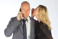 Ο επιχειρηματίας με τη σύζυγο στοκ εικόνες με δικαίωμα ελεύθερης χρήσης