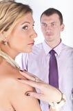 Ο επιχειρηματίας με τη σύζυγο στοκ εικόνα