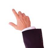 Ο επιχειρηματίας παρουσιάζει κρότους στη διαφήμισή σας στοκ εικόνες
