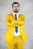Ο επιχειρηματίας παρουσιάζει ποιος είναι κύριος στοκ εικόνα με δικαίωμα ελεύθερης χρήσης