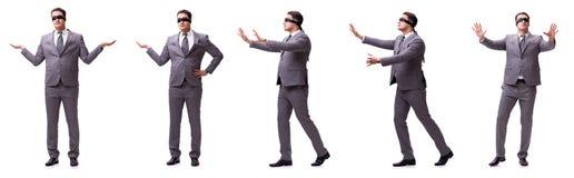 Ο επιχειρηματίας που απομονώθηκε στο λευκό στοκ φωτογραφία με δικαίωμα ελεύθερης χρήσης