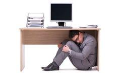 Ο επιχειρηματίας που κρύβει στο ofice στοκ εικόνα με δικαίωμα ελεύθερης χρήσης