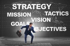 Ο επιχειρηματίας που συγχέεται με τους στρατηγικούς στόχους Στοκ εικόνες με δικαίωμα ελεύθερης χρήσης