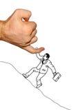 Ο επιχειρηματίας προσκολλάται στο χέρι Στοκ Εικόνα