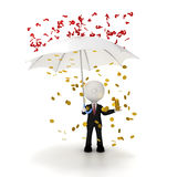 Ο επιχειρηματίας προστατεύει την επιχείρησή του από την έννοια προβλημάτων, clippi διανυσματική απεικόνιση