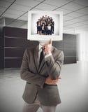 Ο επιχειρηματίας σκέφτεται την ομάδα επιτυχίας Στοκ Εικόνες