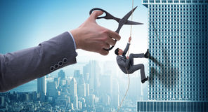 Ο επιχειρηματίας στην έννοια επιχειρησιακού κινδύνου Στοκ Εικόνα