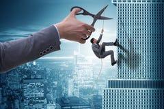 Ο επιχειρηματίας στην έννοια επιχειρησιακού κινδύνου Στοκ Εικόνες