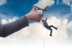 Ο επιχειρηματίας στην έννοια επιχειρησιακού κινδύνου Στοκ εικόνα με δικαίωμα ελεύθερης χρήσης