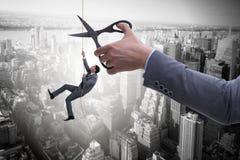 Ο επιχειρηματίας στην έννοια επιχειρησιακού κινδύνου Στοκ Φωτογραφίες