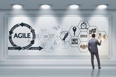 Ο επιχειρηματίας στην ευκίνητη έννοια ανάπτυξης λογισμικού στοκ εικόνες με δικαίωμα ελεύθερης χρήσης