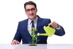Ο επιχειρηματίας στη νέα επιχειρησιακή έννοια Στοκ Εικόνες