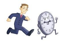 Ο επιχειρηματίας χαράζει το χρόνο ελεύθερη απεικόνιση δικαιώματος