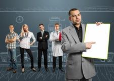 ο επιχειρηματίας χαρτον&io Στοκ Εικόνα