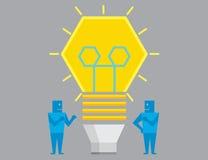 Ο επιχειρηματίας δύο παίρνει την ιδέα Στοκ Εικόνα