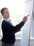 ο επιχειρηματίας whiteboard γράφε στοκ φωτογραφία με δικαίωμα ελεύθερης χρήσης