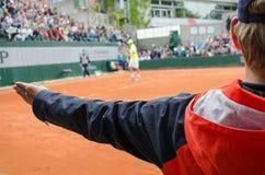 Ο επόπτης γραμμών αντισφαίρισης απαιτεί Στοκ Εικόνες