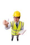 Ο επόπτης κατασκευής που απομονώνεται στο άσπρο υπόβαθρο Στοκ φωτογραφία με δικαίωμα ελεύθερης χρήσης