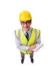 Ο επόπτης κατασκευής που απομονώνεται στο άσπρο υπόβαθρο Στοκ εικόνα με δικαίωμα ελεύθερης χρήσης
