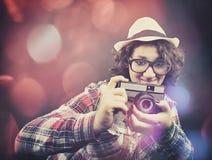 Ο ερασιτέχνης φωτογράφος στοκ εικόνες