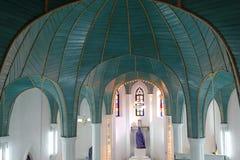 Ο εσωτερικός θόλος της καθολικής εκκλησίας gulangyu μέσα η πόλη, Κίνα Στοκ Φωτογραφία