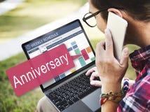 Ο ετήσιος εορτασμός επετείου θυμάται την ετήσια έννοια Στοκ εικόνες με δικαίωμα ελεύθερης χρήσης