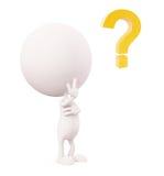 Ο λευκός χαρακτήρας με τη σκέψη θέτει απεικόνιση αποθεμάτων