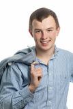 Ο ευπροσήγορος νεαρός άνδρας Στοκ φωτογραφίες με δικαίωμα ελεύθερης χρήσης
