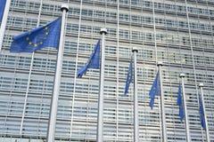 Ο ευρωπαϊκός κυματισμός σημαιών Στοκ Εικόνες