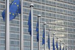 Ο ευρωπαϊκός κυματισμός σημαιών Στοκ εικόνα με δικαίωμα ελεύθερης χρήσης