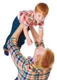 Ο ευτυχής πατέρας με το μικρό γιο Στοκ Εικόνες
