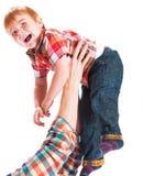 Ο ευτυχής πατέρας με το μικρό γιο Στοκ εικόνα με δικαίωμα ελεύθερης χρήσης