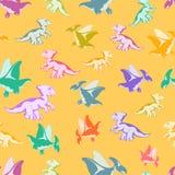 Ο εύθυμος πολύχρωμος Ντίνος Στοκ φωτογραφία με δικαίωμα ελεύθερης χρήσης
