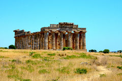 Ο ελληνικός ναός στη Σικελία - την Ιταλία - Selininte Στοκ φωτογραφία με δικαίωμα ελεύθερης χρήσης