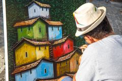 Ο ζωγράφος σπιτιών, στο Ipanema _ Στοκ φωτογραφίες με δικαίωμα ελεύθερης χρήσης