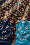 Ο ζωηρόχρωμος ινδός Θεός που ονομάζεται Ganapati για πωλεί στην αγορά στο Σινταμπαράμ, Tamilnadu, Ινδία Στοκ Φωτογραφίες
