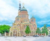 Ο ζωηρόχρωμος καθεδρικός ναός Στοκ Φωτογραφία