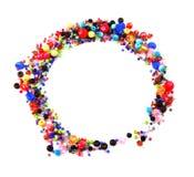 Ο ζωηρόχρωμος κύκλος διακοσμεί τη διακόσμηση με χάντρες στοκ εικόνες